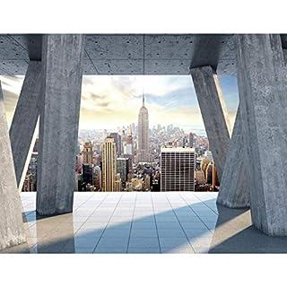 Fototapeten New York 352 x 250 cm Vlies Wand Tapete Wohnzimmer Schlafzimmer Büro Flur Dekoration Wandbilder XXL Moderne Wanddeko - 100% MADE IN GERMANY - NY Stadt City Runa Tapeten 9138011b