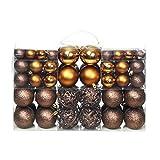 Festnight Christbaumkugeln 100-tlg. Weihnachtskugel Set Feiertagsdekoration 6 cm Braun/Bronze/Golden
