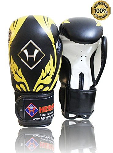 HAQ Synthatic Leder Boxhandschuhe/Muay Thai-Handschuhe Grappling-Polster Boxsack