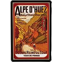 Diseño de Tour de France Alpes Tour 20 x 30 cm publicidad Retro chapa 498