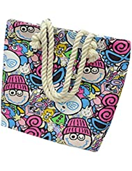 Bolso a bandolera Clode® Moda Mujer aleatorio Print Canvas Bolso Simple hombro Messenger bolsa Colour : A Medium