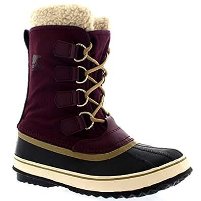 Damen Sorel Winter Carnival Schnee Regen Wolle Wasserdicht Stiefel - Lila Dahlia - 36