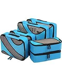 Eono Essentials - Set de 6 organizadores de Viaje - Organizadores para el Equipaje de 3 tamaños Diferentes