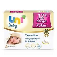 Uni 7300070 Baby Sensitive Islak Mendil,  12'Li, Beyaz