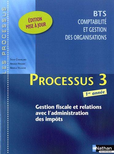BTS 1e année Comptabilité et gestion des organisations - Processus 3 : Gestion fiscale et relations avec l'administration des impôts
