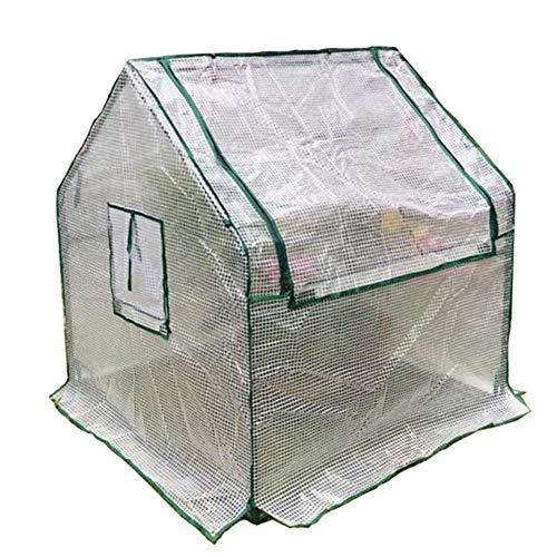 LIANGLIANG-Serre de jardin Jardinage Plante De Remise Chaude Couverture Anti-Pluie Plastique Durable Durable Stable Résistance À La Déchirure (Couleur : Clair, Taille : 90x90x90cm)
