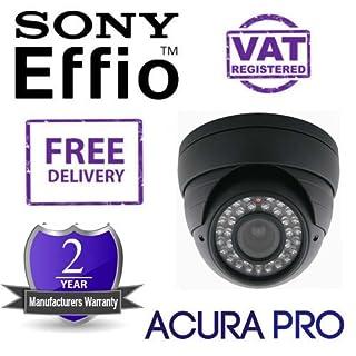 acurapro Sony Effio 700TVL varifokales Infrarot-Dome CCTV Kamera Schwarz