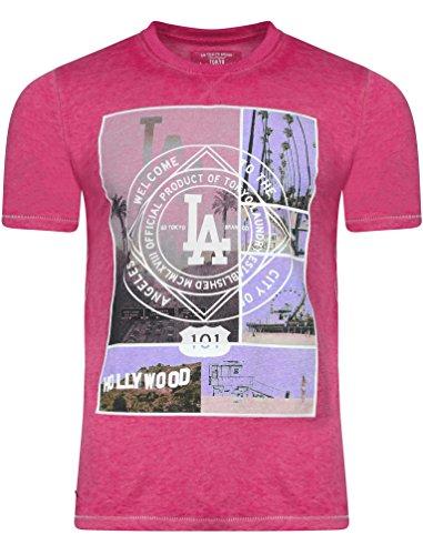 Tokyo Laundry Herren Blusen T-Shirt, Einfarbig rosa Rose Small Gr. Large, Pasadena - Pink Rose -