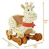 Labebe Schaukeltier Giraffe mit Rädern - 5