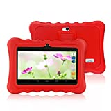Yuntab Q88H Tablet para niños - Tablet Infantil de 7 Pulgadas Incluye iWawa Software niños Pre-instalado ( Android 4.4.2 KitKat, Quad-Core, WiFi, Bluetooth, HD 1024x600, 32 GB, 8GB ROM, Doble Cámara, Google Play) (Tableta blanco, Caja rojo)