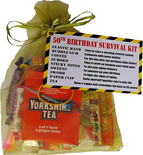 50th Birthday Survival Kit. Fun, dinky gift to make them smile