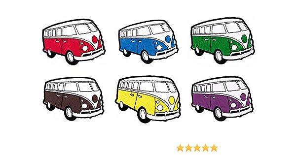 Bulli Vw Bus Oldtimer Aufnaher 6 Stuck Bugelbild Patch Amazon De