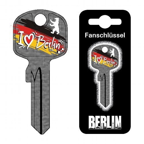 Fanschlüssel Schlüsselrohling Schlüsselanhänger Fanartikel Schlüsseldienst (I Love Berlin)