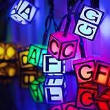 Solar Lichterkette außen bunte Dekoration Easternstar 6m 30LED Garten Beleuchtung Wasserdicht für innen Weihnachten Party Hochzeit Haus Terrasse Baum Balkon Buchstaben