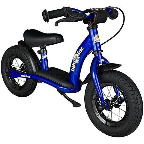 BIKESTAR® Premium 25.4cm (10 pulgadas) Bicicleta sin pedales para pequeños aventureros a partir de 2 años ★ Edición Clásica ★ Azul