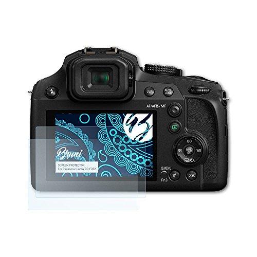Bruni Schutzfolie kompatibel mit Panasonic Lumix DC-FZ82 Folie, glasklare Displayschutzfolie (2X)