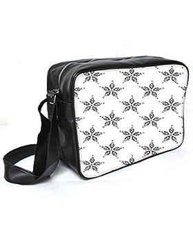 Snoogg grau floral Star Leder Unisex Messenger Bag für College Schule täglichen Gebrauch Tasche Material PU