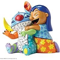 Enesco Disney By Romero Britto Lilo e Stitch, Ceramica, Multicolore, 10x12x13 cm