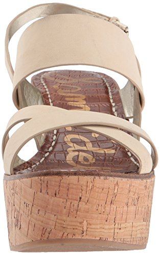 Sam Edelman Women's Dali Wedge Sandal Saddle Kid Suede Leather