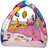 Harshi Baby Mattress With Mosquito Net Portable Foldable Printed Multicolor Bed