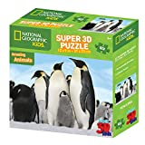 National Geographic ng13585 63-Teiliges Super 3D Kinder Puzzle – Pinguine