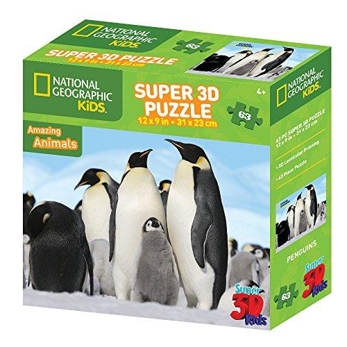 National Geographic ng1358563-Teiliges Super 3D Kinder Puzzle?Pinguine Preisvergleich