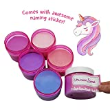 Original Stationery Slime Containers with Lids 6 ounce [PERFECT SLIME CONTAINERS, NO BPA's SAFE FOR KIDS] Small Plastic Storage Jars Screw Tops, [FOR ANY SLIME MAKER] (Clear Pink)