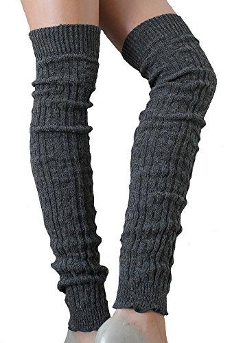 SC-Strümpfe Damen Wollstulpen extra lang Anthrazit one Size