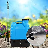 GOTOTOP Rückenspritze, 16L Elektro Rucksack-Sprüher Unkrautspritze Gartenspritze Hochdrucksprühe Gartenwerkzeug, 50 * 37 * 16.5cm