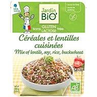 Cereales y Lentejas Cocinados Ecológico Sin Gluten y sin Lactosa JardinBio (250g)