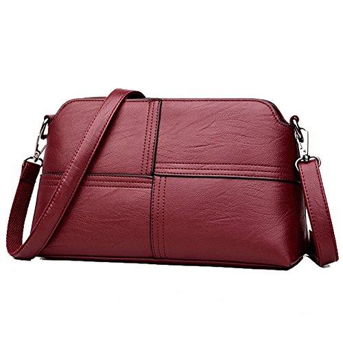 FULLANT , Damen Rucksackhandtasche, schwarz (Schwarz) - FULLANTAA88888 burgunderrot