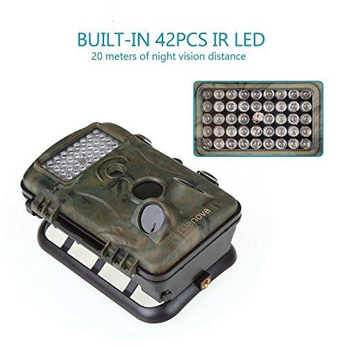 Crenova 12MP 1080P HD Infrared Game&Trail Camera 42 Pcs IR LEDs 120°Wide Angle Night Vision 2.4″ LCD Display Waterproof Hunting Scouting Camera Digital Surveillance Camera