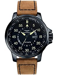 Sandoz 81349-95 Reloj caballero con maquinaria suiza en acero calendario.