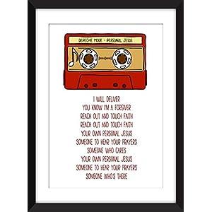 Depeche Mode Personal Jesus Lyrics, Unframed Print / Ungerahmter Druck