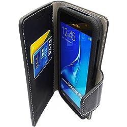"""FOLIO 5"""" pouces universelle Smartphone NOIR ( Compatibles tous mobiles de 4.8"""" a 5.3"""" ) Etui Housse Pochette Coque compatible Samsung Honor Sony Archos Logicom Lg Alcatel Huawei wiko Moto Lenovo"""