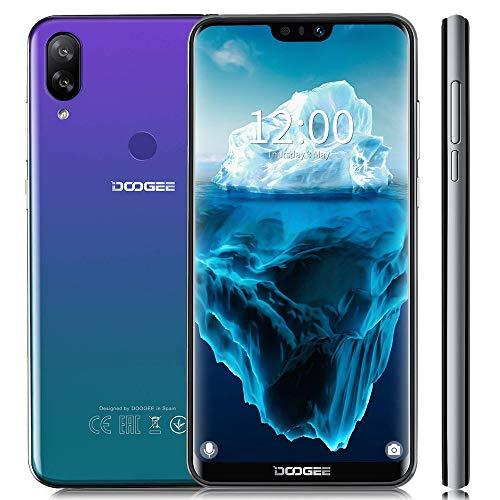 DOOGEE N10-2019 Handy 4G LTE, Kamera 16MP+13MP+16MP Octa-core 3GB RAM+32GB ROM, (15.1cm, 5.84' FHD Display (1080 * 2280), Smartphone Ohne Vertrag Dual Nano SIM Android 8.1, Face ID Fingerabdruck-Blau