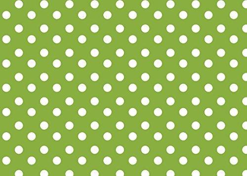 Abwischen Tischdecke Wachstuch PVC Vinyl Gepunktet Farben und Größen Rot Lila Schwarz Beige Grün Blau bunt 140/200/250cm x 140cm - 140cm x 140cm (Grüne Tischdecke Vinyl)