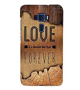 Love Forever 3D Hard Polycarbonate Designer Back Case Cover for Asus Zenfone 3 Deluxe ZS570KL