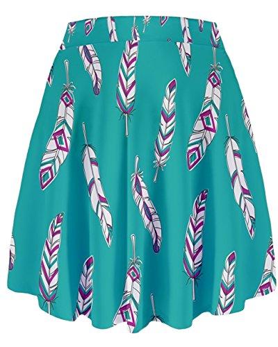 CowCow - Jupe - Femme violet lavande bleu sarcelle