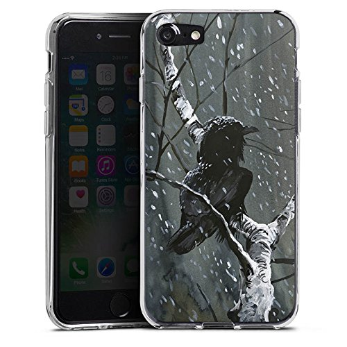Apple iPhone X Silikon Hülle Case Schutzhülle Rabe Wald Vogel Silikon Case transparent