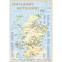Whisky Distilleries Scotland - Poster 42x60cm Standard Edition: The scotisch Whisky Landscape in Overview