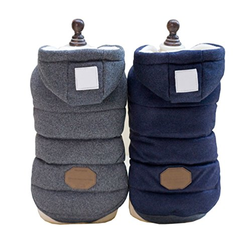 SELMAI Hooded Dog Coat Stylish Small Puppy Dog Clothes(This style run small,pls choose one size larger)