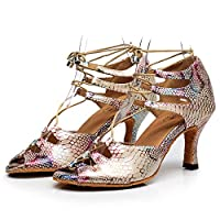 Ladies Ballroom Dance Shoes, Peep Toe Wedding Indoor Prom Sandals,Beige,EU38/US6.5/UK3.5