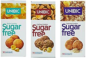 Unibic Sugar Free Combo, 225g (Pack of 3)
