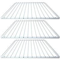 SPARES2GO Universal Plastic Coated Fridge Freezer Shelf Rack (White, Pack of 3)