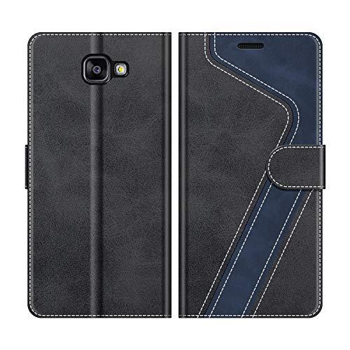MOBESV Custodia Samsung Galaxy A5 2016, Cover a Libro Samsung Galaxy A5 2016, Custodia in Pelle Samsung Galaxy A5 2016 Magnetica Cover per Samsung Galaxy A5 2016, Elegante Nero