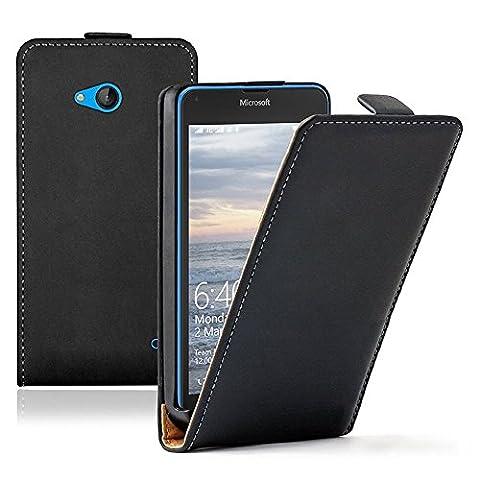 VCOMP® Housse Coque Etui Cuir PU Vrai pour Microsoft Nokia Lumia 640 LTE/ 640 LTE Dual SIM/ 640 Dual SIM -