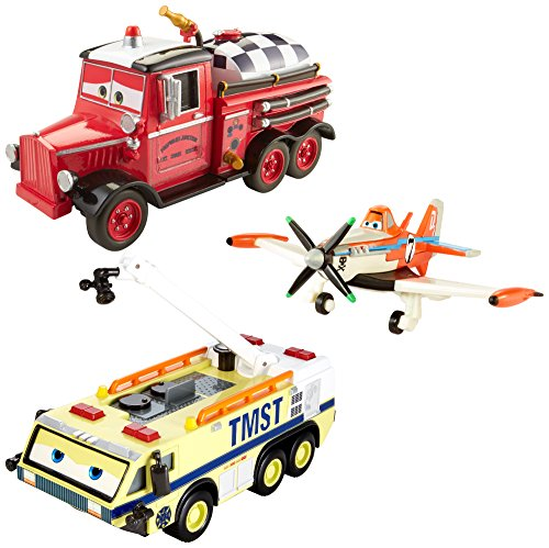 Disney Planes: Fire & Rescue Ryker, Dusty and Mayday Gift Pack by Mattel (Fire Rescue Planes And Mayday)
