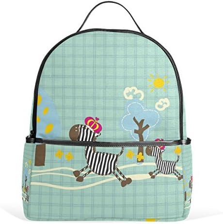 ALAZA Zebra Cartoon Sac à dos Casual Rucksack pour l'école Voyage en plein air Daypack B074TDH136 | à La Mode