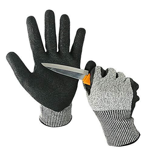 Kim Yuan Cut Resistant Mechanic Handschuhe Allzweck-Atmungsaktive Arbeitshandschuhe Rutschfest Abriebfest Ideal für Garten, Lager, Gebäude, Outdoor-Männer und Frauen, Große